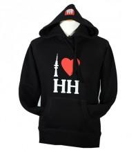 I love HH - Damen-Hoodie