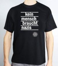 T-Shirt (male) - Kein Mensch braucht Nazis