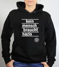 Hoodie (unisex) - Kein Mensch braucht Nazis
