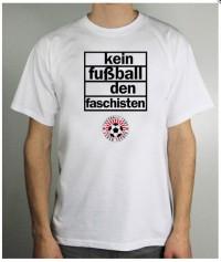 T-Shirt (male) - kein Fussball den Faschisten